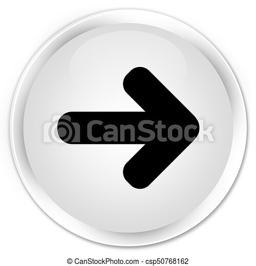 Next arrow icon premium white round button - csp50768162