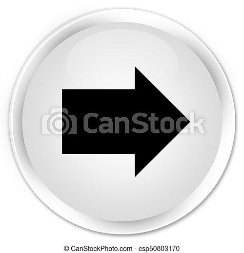 Next arrow icon premium white round button - csp50803170