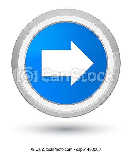 Next arrow icon prime cyan blue round button - csp51463200