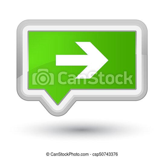 Next arrow icon prime soft green banner button - csp50743376