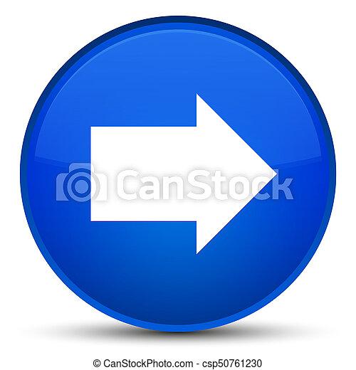 Next arrow icon special blue round button - csp50761230