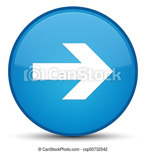 Next arrow icon special cyan blue round button - csp50732542