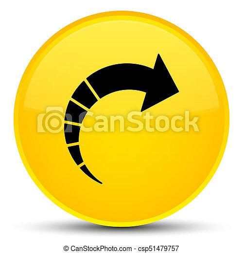Next arrow icon special yellow round button - csp51479757