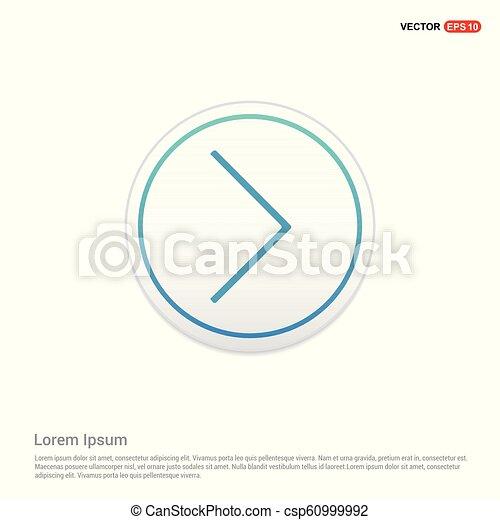 Next Arrow Icon - white circle button - csp60999992