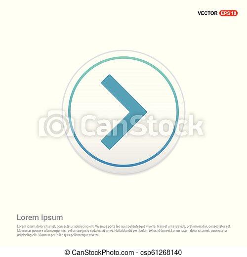 Next Arrow Icon - white circle button - csp61268140