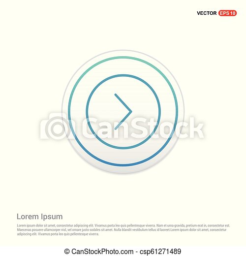 Next arrow icon - white circle button - csp61271489