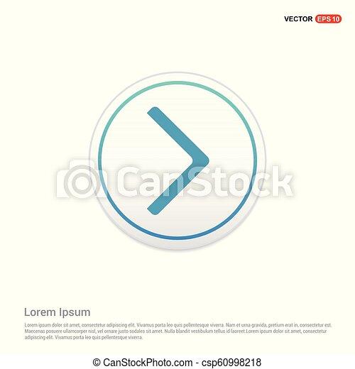 Next Arrow Icon - white circle button - csp60998218