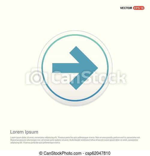 Next Arrow Icon - white circle button - csp62047810