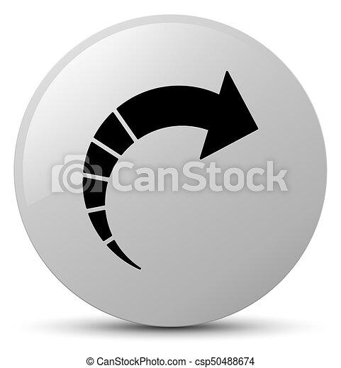Next arrow icon white round button - csp50488674