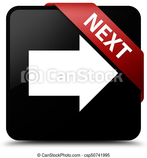 Next black square button red ribbon in corner - csp50741995