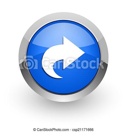 next blue glossy web icon - csp21171666