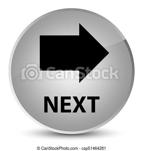 Next elegant white round button - csp51464281