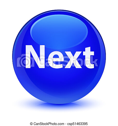 Next glassy blue round button - csp51463395