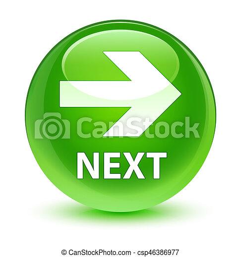 Next glassy green round button - csp46386977