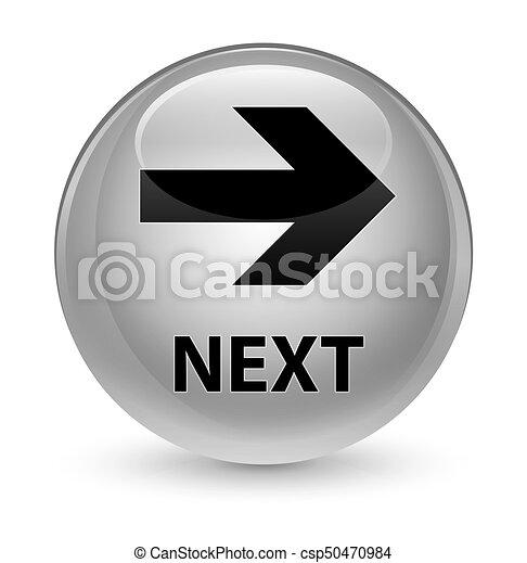 Next glassy white round button - csp50470984