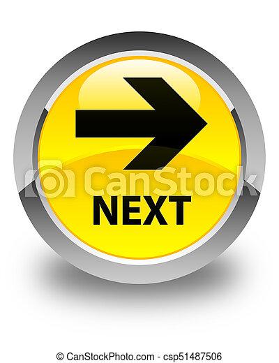 Next glossy yellow round button - csp51487506