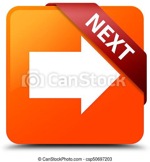 Next orange square button red ribbon in corner - csp50697203