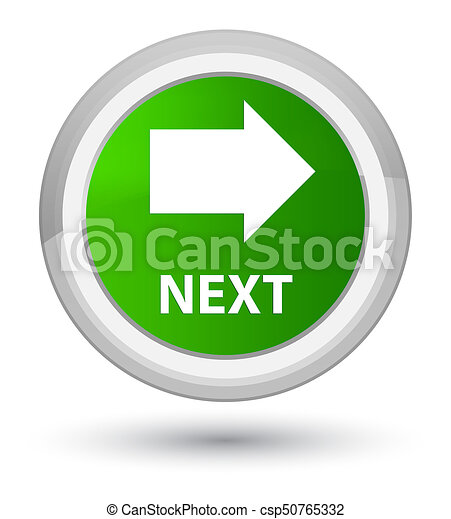 Next prime green round button - csp50765332