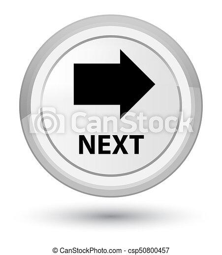 Next prime white round button - csp50800457