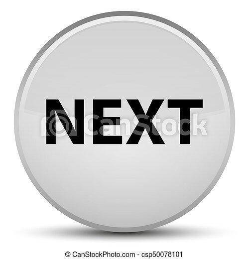 Next special white round button - csp50078101