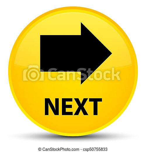 Next special yellow round button - csp50755833