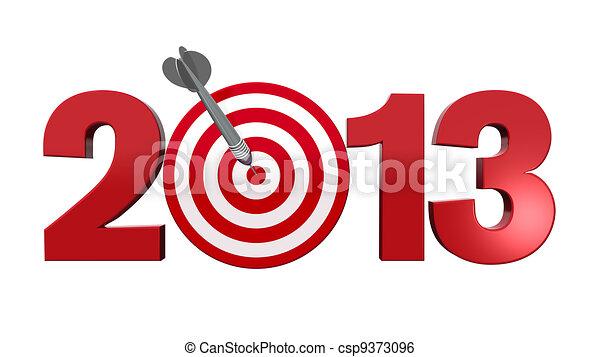 Next Target 2013. - csp9373096