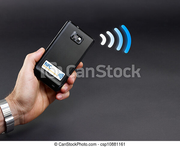 NFC - Near field communication / mobile payment - csp10881161