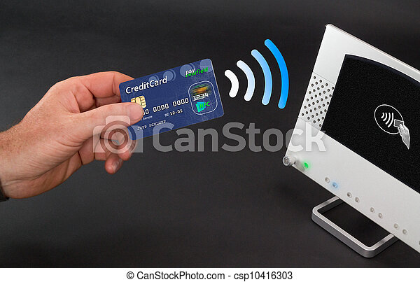 NFC - Near field communication / mobile payment - csp10416303