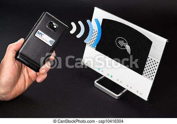 NFC - Near field communication / mobile payment - csp10416304