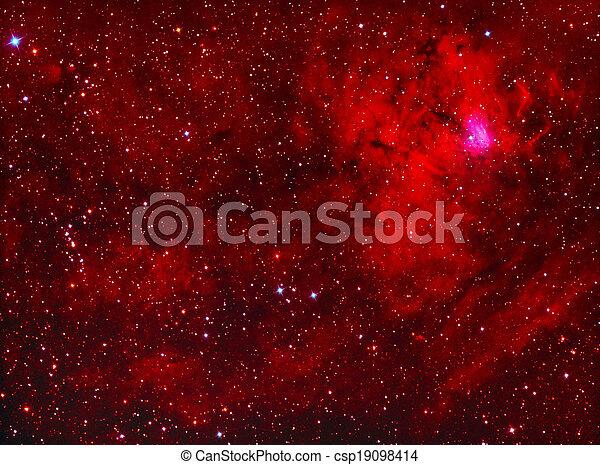 NGC1491 emission nebula in perseus - csp19098414