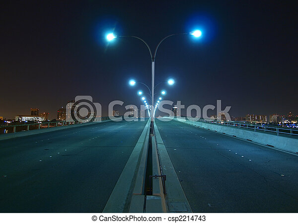 Nght bridge and towers - csp2214743