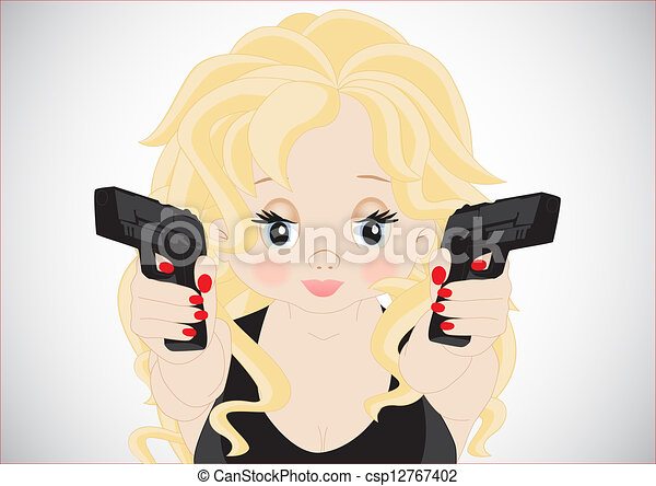 Chica con armas - csp12767402