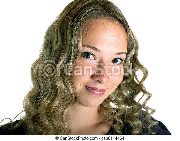 Chica en blanco - csp6114464