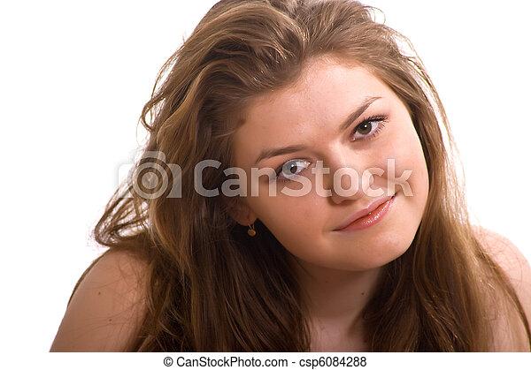 Chica en blanco - csp6084288