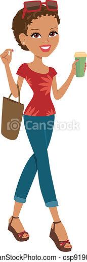 Chica de compras - csp9190865