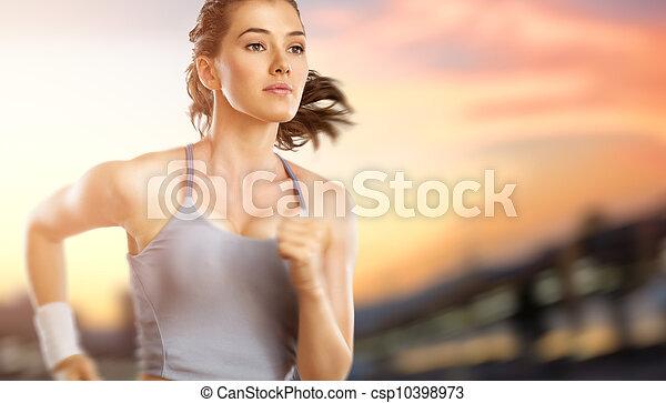 niña, deporte - csp10398973