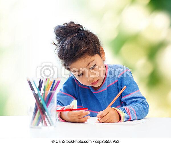 Dibujo de niña - csp25556952