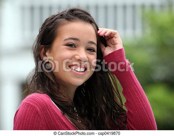 Feliz adolescente - csp0419870