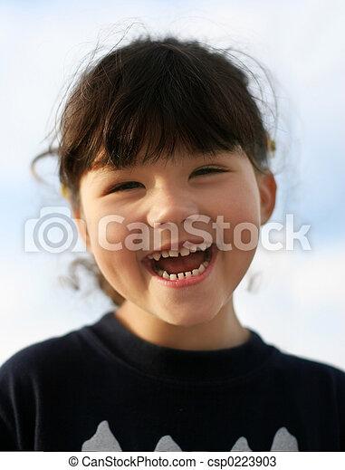 Chica feliz - csp0223903