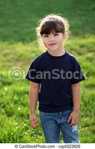 Chica feliz - csp0223826