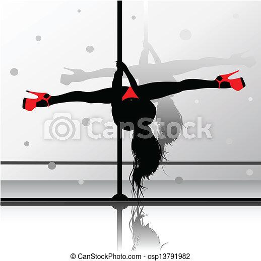 Una bailarina flexible - csp13791982