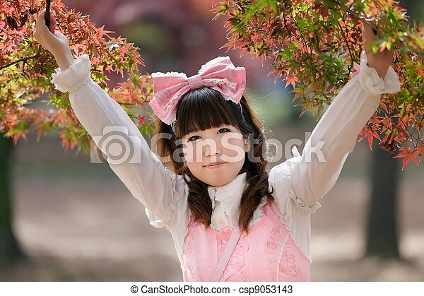 Chica japonesa - csp9053143