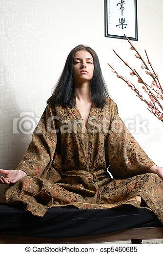 Chica meditativa - csp5460685