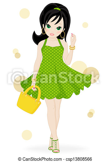 Chica de moda - csp13808566