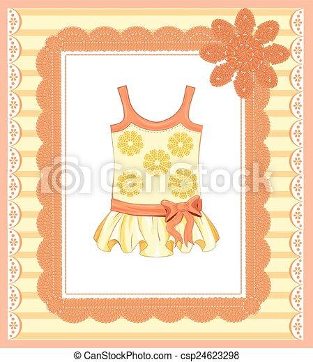 Antecedentes con vestido para la niña - csp24623298