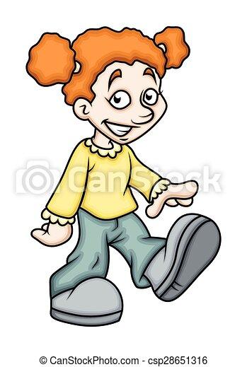 Pose de chica caricatura - csp28651316