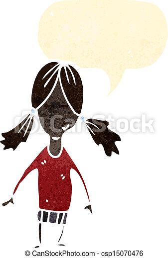La chica de los dibujos animados - csp15070476