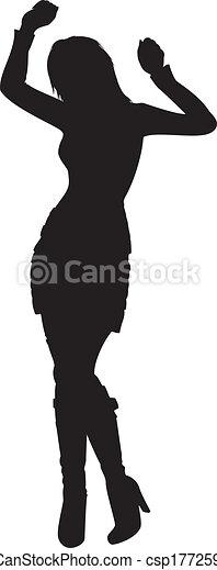 Silueta de bailarina - csp17725972