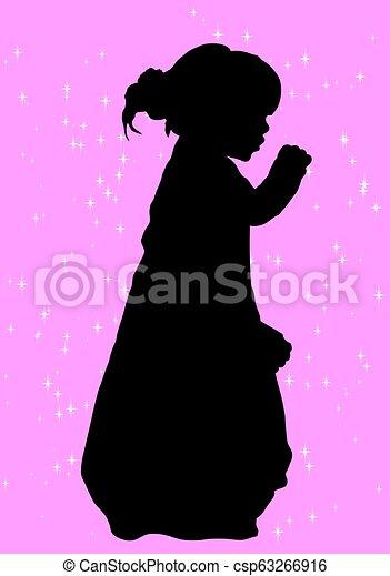 La silueta de una chica - csp63266916