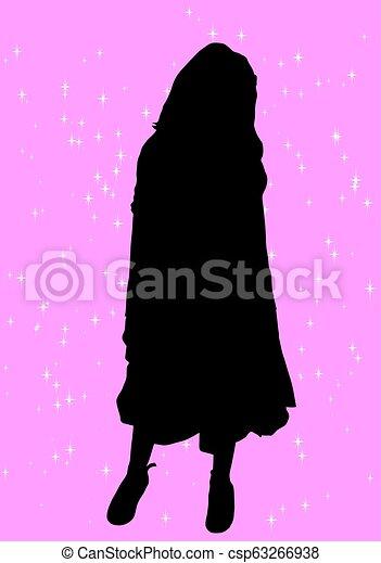 La silueta de una chica - csp63266938